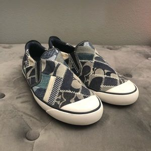 Coach Beale Patchwork Slip On Sneakers Size 9.5